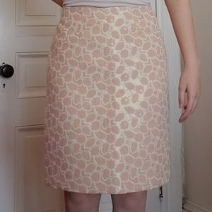 Peach and Gold skirt